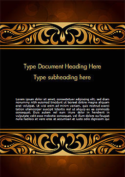 Luxury Vintage Background Word Template, Cover Page, 15385, Abstract/Textures — PoweredTemplate.com