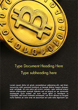 Bitcoins on Circuit Board Word Template, Cover Page, 15387, Technology, Science & Computers — PoweredTemplate.com