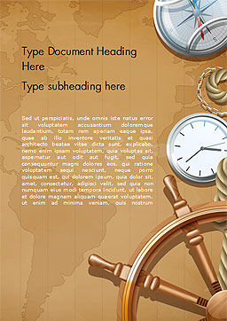 Adventure Background Word Template, Cover Page, 15388, Careers/Industry — PoweredTemplate.com