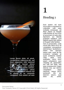 Cocktail with Orange Word Template, First Inner Page, 15699, Food & Beverage — PoweredTemplate.com