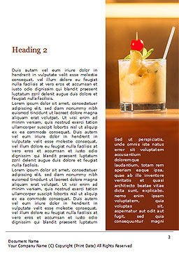 Three Tropical Cocktails Word Template, Second Inner Page, 15733, Food & Beverage — PoweredTemplate.com