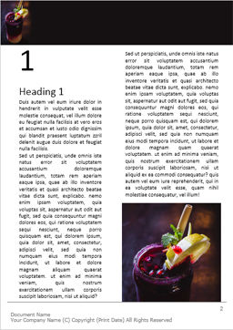 Cocktail with Pomegranate Juice and Lemon Word Template, First Inner Page, 16047, Food & Beverage — PoweredTemplate.com