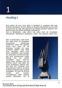 Gray Crane Under Blue Sky Gratis Word Template, Eerste Binnenpagina, 16319, Voorzieningen/Industrieel — PoweredTemplate.com