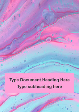 Fluid art presentation免费Word模板, 封面, 16521, Art & Entertainment — PoweredTemplate.com