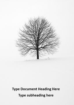 Alone tree on a winter field免费Word模板, 封面, 16684, 自然与环境 — PoweredTemplate.com
