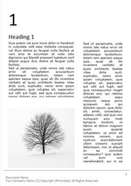 Alone tree on a winter field免费Word模板, 第一内页, 16684, 自然与环境 — PoweredTemplate.com