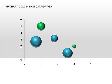 Graph Charts: 3D Charts in Yellow (Data-Driven) Collection  #00001