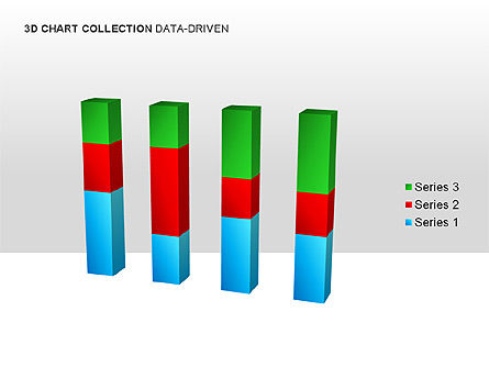 3D Charts in Yellow (Data-Driven) Collection , Slide 5, 00001, Graph Charts — PoweredTemplate.com