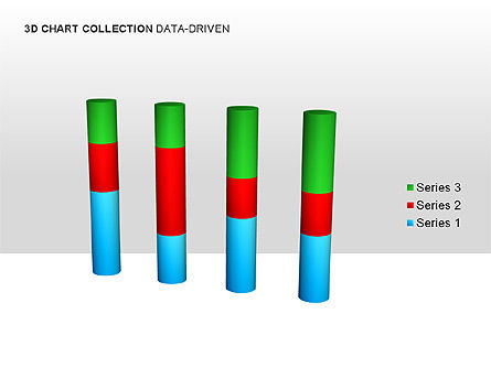 3D Charts in Yellow (Data-Driven) Collection , Slide 6, 00001, Graph Charts — PoweredTemplate.com