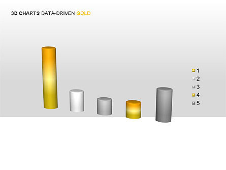 3D Charts (Data-Driven) Collection, Slide 11, 00002, Graph Charts — PoweredTemplate.com