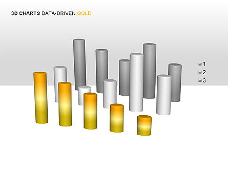 3D Charts (Data-Driven) Collection, Slide 12, 00002, Graph Charts — PoweredTemplate.com