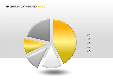 3D Charts (Data-Driven) Collection, Slide 2, 00002, Graph Charts — PoweredTemplate.com