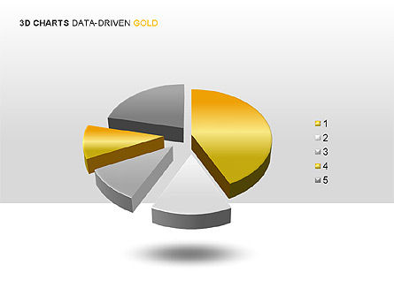 3D Charts (Data-Driven) Collection, Slide 4, 00002, Graph Charts — PoweredTemplate.com