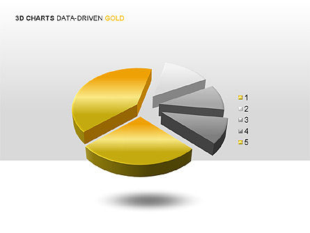 3D Charts (Data-Driven) Collection, Slide 6, 00002, Graph Charts — PoweredTemplate.com