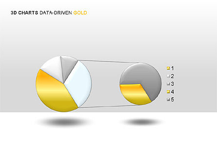3D Charts (Data-Driven) Collection, Slide 7, 00002, Graph Charts — PoweredTemplate.com