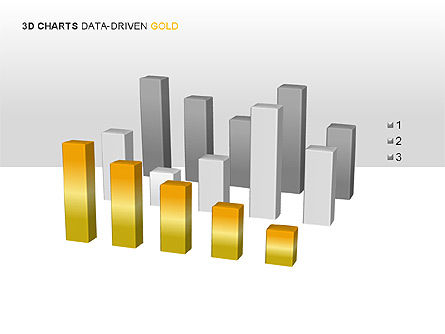 3D Charts (Data-Driven) Collection, Slide 9, 00002, Graph Charts — PoweredTemplate.com