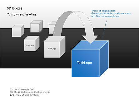 3D Boxes Collection, Slide 10, 00003, Shapes — PoweredTemplate.com