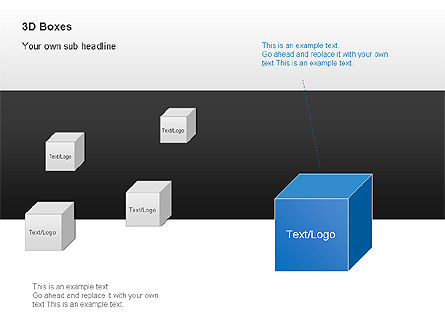 3D Boxes Collection, Slide 11, 00003, Shapes — PoweredTemplate.com