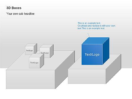 3D Boxes Collection, Slide 12, 00003, Shapes — PoweredTemplate.com