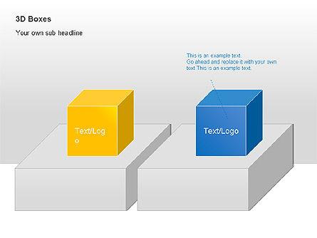 3D Boxes Collection, Slide 13, 00003, Shapes — PoweredTemplate.com