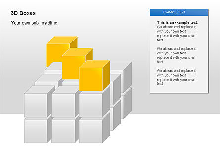 3D Boxes Collection, Slide 2, 00003, Shapes — PoweredTemplate.com