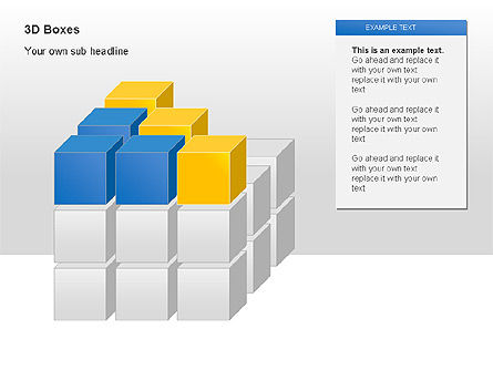 3D Boxes Collection, Slide 3, 00003, Shapes — PoweredTemplate.com