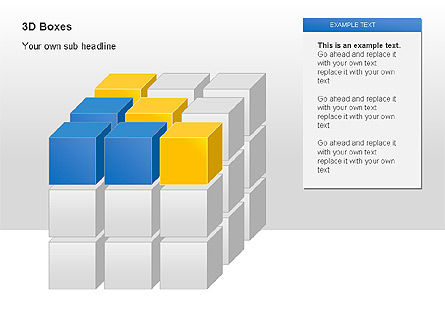3D Boxes Collection, Slide 4, 00003, Shapes — PoweredTemplate.com
