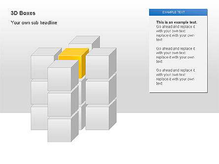 3D Boxes Collection, Slide 5, 00003, Shapes — PoweredTemplate.com