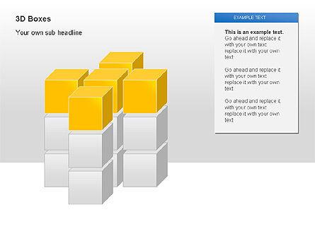 3D Boxes Collection, Slide 6, 00003, Shapes — PoweredTemplate.com