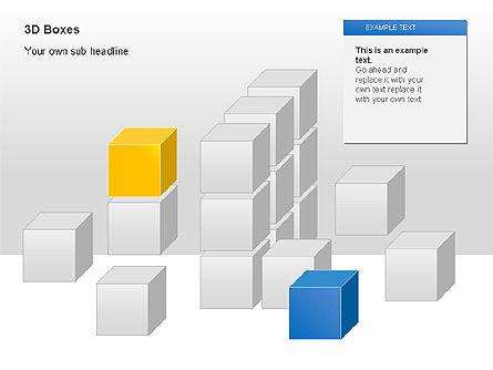 3D Boxes Collection, Slide 7, 00003, Shapes — PoweredTemplate.com