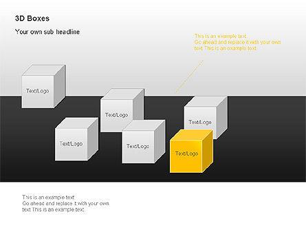 3D Boxes Collection, Slide 9, 00003, Shapes — PoweredTemplate.com