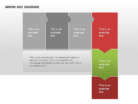 Arrow Colored Box Diagrams, Slide 10, 00005, Process Diagrams — PoweredTemplate.com