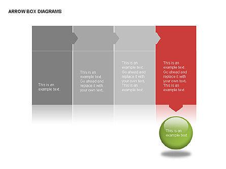 Arrow Colored Box Diagrams, Slide 11, 00005, Process Diagrams — PoweredTemplate.com