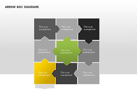Arrow Colored Box Diagrams, Slide 12, 00005, Process Diagrams — PoweredTemplate.com