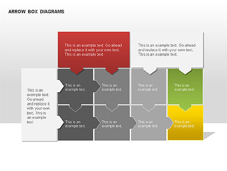 Arrow Colored Box Diagrams, Slide 3, 00005, Process Diagrams — PoweredTemplate.com