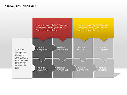Arrow Colored Box Diagrams, Slide 4, 00005, Process Diagrams — PoweredTemplate.com
