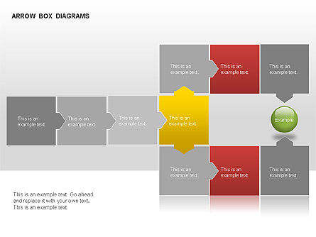 Arrow Colored Box Diagrams, Slide 5, 00005, Process Diagrams — PoweredTemplate.com
