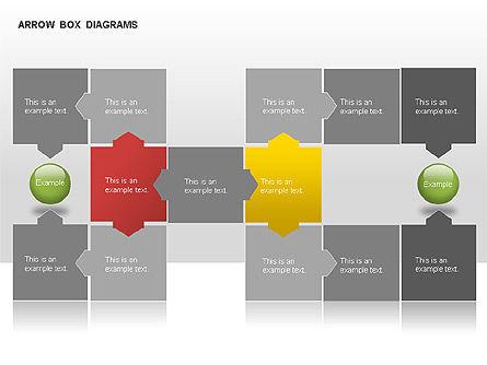 Arrow Colored Box Diagrams, Slide 6, 00005, Process Diagrams — PoweredTemplate.com