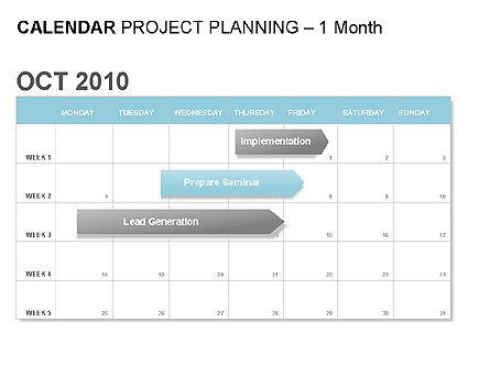 Blue Calendar, 00006, Timelines & Calendars — PoweredTemplate.com