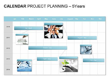 Blue Calendar, Slide 10, 00006, Timelines & Calendars — PoweredTemplate.com