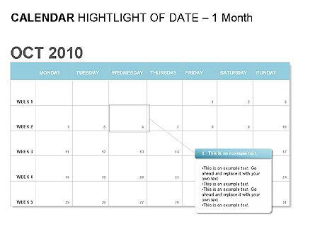 Blue Calendar, Slide 2, 00006, Timelines & Calendars — PoweredTemplate.com