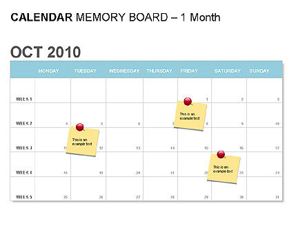 Blue Calendar, Slide 3, 00006, Timelines & Calendars — PoweredTemplate.com