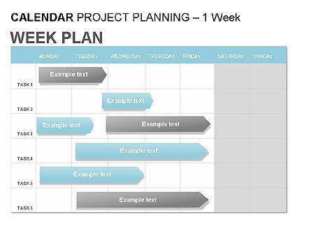 Blue Calendar, Slide 4, 00006, Timelines & Calendars — PoweredTemplate.com