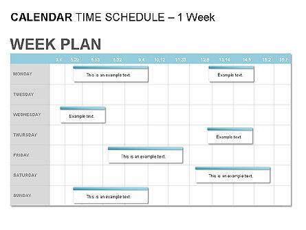 Blue Calendar, Slide 5, 00006, Timelines & Calendars — PoweredTemplate.com