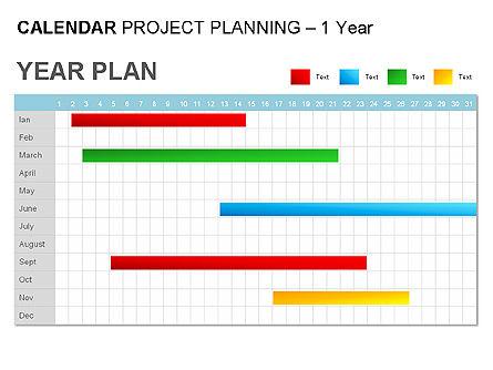 Blue Calendar, Slide 6, 00006, Timelines & Calendars — PoweredTemplate.com