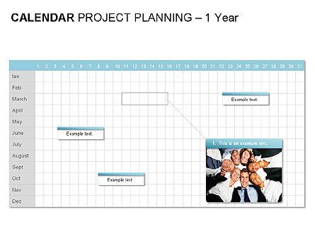 Blue Calendar, Slide 7, 00006, Timelines & Calendars — PoweredTemplate.com