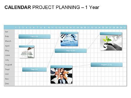 Blue Calendar, Slide 8, 00006, Timelines & Calendars — PoweredTemplate.com