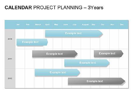 Blue Calendar, Slide 9, 00006, Timelines & Calendars — PoweredTemplate.com