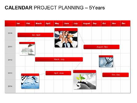 Red Calendar, Slide 10, 00007, Timelines & Calendars — PoweredTemplate.com