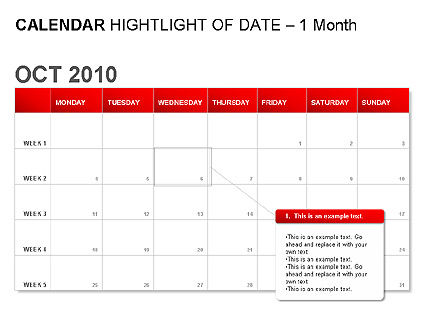 Red Calendar, Slide 2, 00007, Timelines & Calendars — PoweredTemplate.com